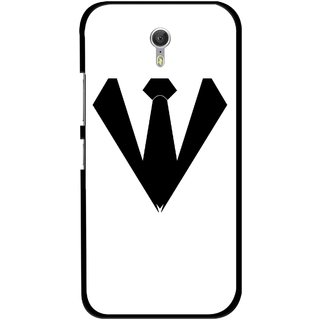 Snooky Printed Tie Collar Mobile Back Cover For Lenovo Zuk Z1 - Multicolour