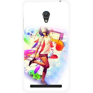 Snooky Printed Shopping Girl Mobile Back Cover For Asus Zenfone Go ZC451TG - Multicolour