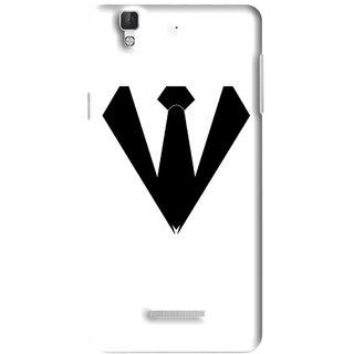 Snooky Printed Tie Collar Mobile Back Cover For Micromax YU YUREKA - Multi