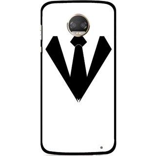Snooky Printed Tie Collar Mobile Back Cover For Motorola Moto Z2 Play  - Multicolour
