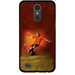 Snooky Printed Football Mania Mobile Back Cover For LG K10 2017 - Multi