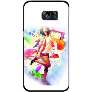 Snooky Printed Shopping Girl Mobile Back Cover For Samsung Galaxy S7 - Multicolour