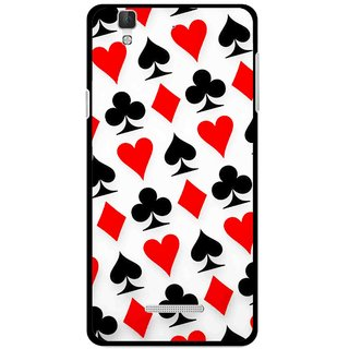 Snooky Printed Playing Cards Mobile Back Cover For Micromax YU YUREKA - Multi