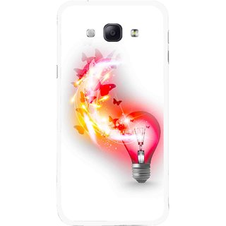 Snooky Printed Butterly Bulb Mobile Back Cover For Samsung Galaxy A8 - Multicolour