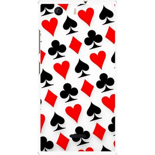 Snooky Printed Playing Cards Mobile Back Cover For Micromax Canvas Nitro 2 E311 - Multi