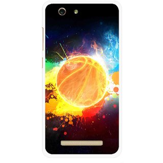 Snooky Printed Paint Globe Mobile Back Cover For Gionee F103 pro - Multi