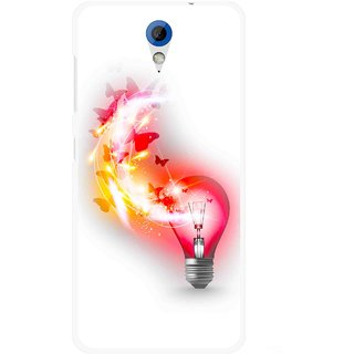 Snooky Printed Butterly Bulb Mobile Back Cover For HTC Desire 620 - Multicolour