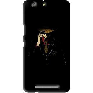 Snooky Printed Cow Bow Mobile Back Cover For Gionee Marathon M5 - Multi