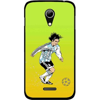 Snooky Printed Focus Ball Mobile Back Cover For Micromax A114 - Multicolour