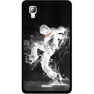 Snooky Printed Dance Mania Mobile Back Cover For Micromax Canvas Doodle 3 A102 - Multicolour