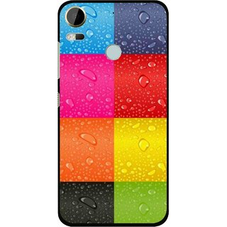 Snooky Printed Water Droplets Mobile Back Cover For HTC Desire 10 Pro - Multi