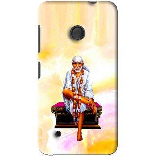 Snooky Printed Sai Baba Mobile Back Cover For Nokia Lumia 530 - Multi