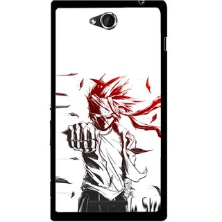 Snooky Printed Marshalat Mobile Back Cover For Sony Xperia C - Multicolour