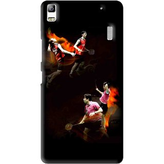 Snooky Printed Sports Player Mobile Back Cover For Lenovo A7000 - Multi