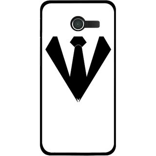 Snooky Printed Tie Collar Mobile Back Cover For Asus Zenfone 4 - Multicolour