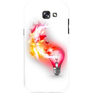 Snooky Printed Butterly Bulb Mobile Back Cover For Samsung Galaxy A5 (2017) - Multicolour