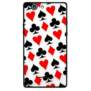 Snooky Printed Playing Cards Mobile Back Cover For Xolo A500s - Multi