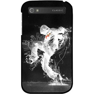 Snooky Printed Dance Mania Mobile Back Cover For Blackberry Classic - Multicolour