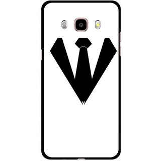 Snooky Printed Tie Collar Mobile Back Cover For Samsung Galaxy J5 (2016) - Multicolour