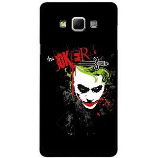 Snooky Printed The Joker Mobile Back Cover For Samsung Galaxy E5 - Multicolour