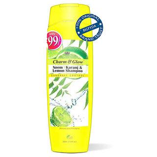 Charm Glow Neem Karanj Lemon Shampoo For Dandruff Control 350 ML