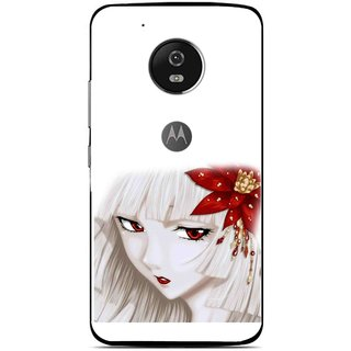 Snooky Printed Chinies Girl Mobile Back Cover For Moto G5 - Multi