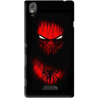Snooky Printed Spider Eye Mobile Back Cover For Sony Xperia T3 - Multi