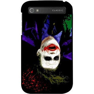 Snooky Printed Hanging Joker Mobile Back Cover For Blackberry Classic - Multicolour
