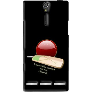 Snooky Printed Cricket Lover Mobile Back Cover For Sony Xperia S - Multi