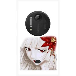 Snooky Printed Chinies Girl Mobile Back Cover For Nokia Lumia 1020 - Multi
