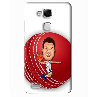 Snooky Printed Cricket Club Mobile Back Cover For Huawei Ascend Mate 7 - Multi