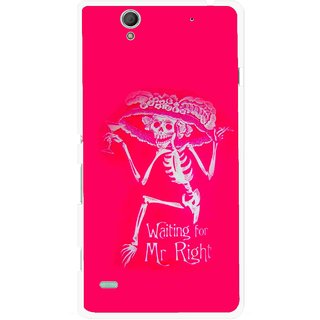 Snooky Printed Mr.Right Mobile Back Cover For Sony Xperia C4 - Multicolour