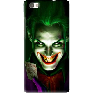 Snooky Printed Loughing Joker Mobile Back Cover For Huawei Ascend P8 Lite - Multi