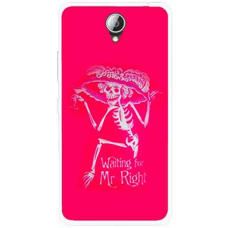 Snooky Printed Mr.Right Mobile Back Cover For Lenovo A5000 - Multicolour
