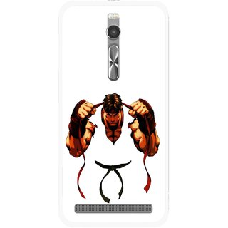Snooky Printed Karate Boy Mobile Back Cover For Asus Zenfone 2 - Multi