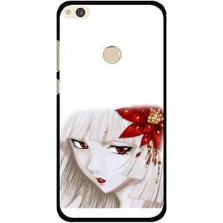 Snooky Printed Chinies Girl Mobile Back Cover For Huawei Honor 8 Lite - Multi