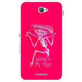 Snooky Printed Mr.Right Mobile Back Cover For Sony Xperia E4 - Multicolour