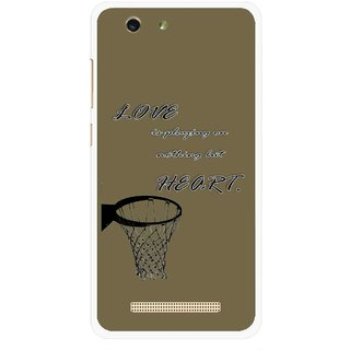 Snooky Printed Heart Games Mobile Back Cover For Gionee F103 pro - Multi