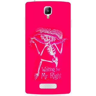 Snooky Printed Mr.Right Mobile Back Cover For Oppo Neo 3 R831k - Multicolour