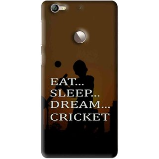 Snooky Printed All Is Cricket Mobile Back Cover For Letv Le 1S - Multi