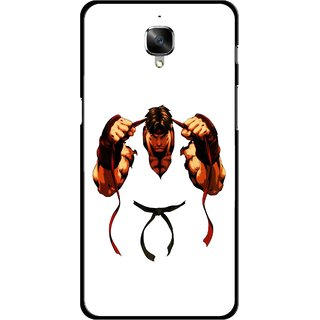 Snooky Printed Karate Boy Mobile Back Cover For OnePlus 3 - Multicolour