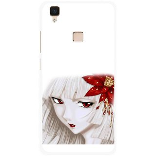 Snooky Printed Chinies Girl Mobile Back Cover For Vivo V3 - Multi