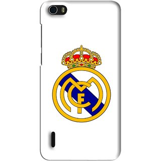 Snooky Printed Sports Logo Mobile Back Cover For Huawei Honor 6 - Multi