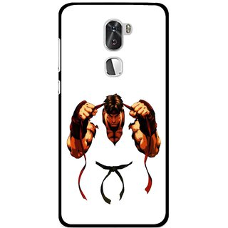 Snooky Printed Karate Boy Mobile Back Cover For Coolpad Cool 1 - Multi