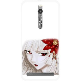 Snooky Printed Chinies Girl Mobile Back Cover For Asus Zenfone 2 - Multi