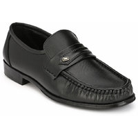 Hirel's Black Slip On Mocassion Synthetic Leather Forma