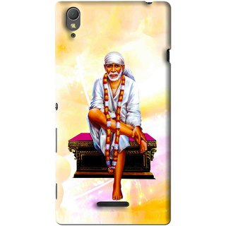 Snooky Printed Sai Baba Mobile Back Cover For Sony Xperia T3 - Multi