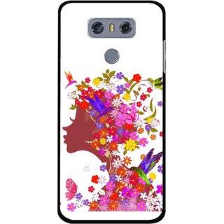 Snooky Printed Girl Beauty Mobile Back Cover For LG G6 - Multi