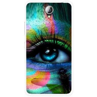 Snooky Printed Designer Eye Mobile Back Cover For Lenovo A5000 - Multicolour