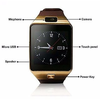 Lionix DZ09 Bluetooth Smart Watch with SIM Card Slot (Assorted Color)